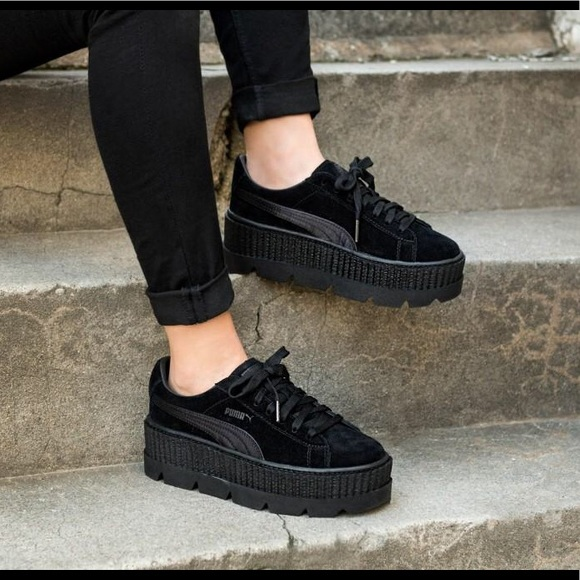 new arrival 92066 80280 Black Cleated Platform Fenty Puma Creepers